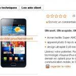 Samsung Galaxy S2 – Apparition sur le site d'Orange Suisse