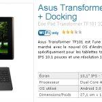 Asus Transformer – Dispo en Pré-commande + coupon frais de port offerts