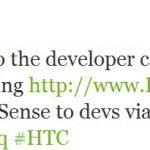 OpenSense SDK et HTC Dev – HTC s'ouvre aux développeurs
