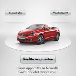Volkswagen vous invite à découvrir la Nouvelle Golf Cabriolet en réalité augmentée