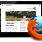 Firefox – Une version pour tablette tactile en approche