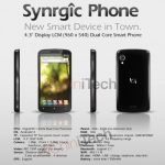 Synrgic Phone T100 – Tegra Dualcore et écran 4,3 pouces