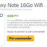 Samsung Galaxy Note – Prix et date pour la version WIFI
