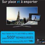 Samsung – Achetez une TV et bénéficiez de 500 euros de réduction sur une Galaxy Tab