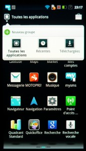Screenshot Motorola Razr