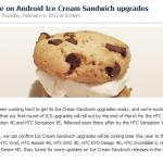 HTC annonce officiellement Ice Cream Sandwich sur les Desire S, Desire HD…