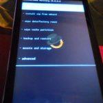 Photo du recovery touch sur Nexus S