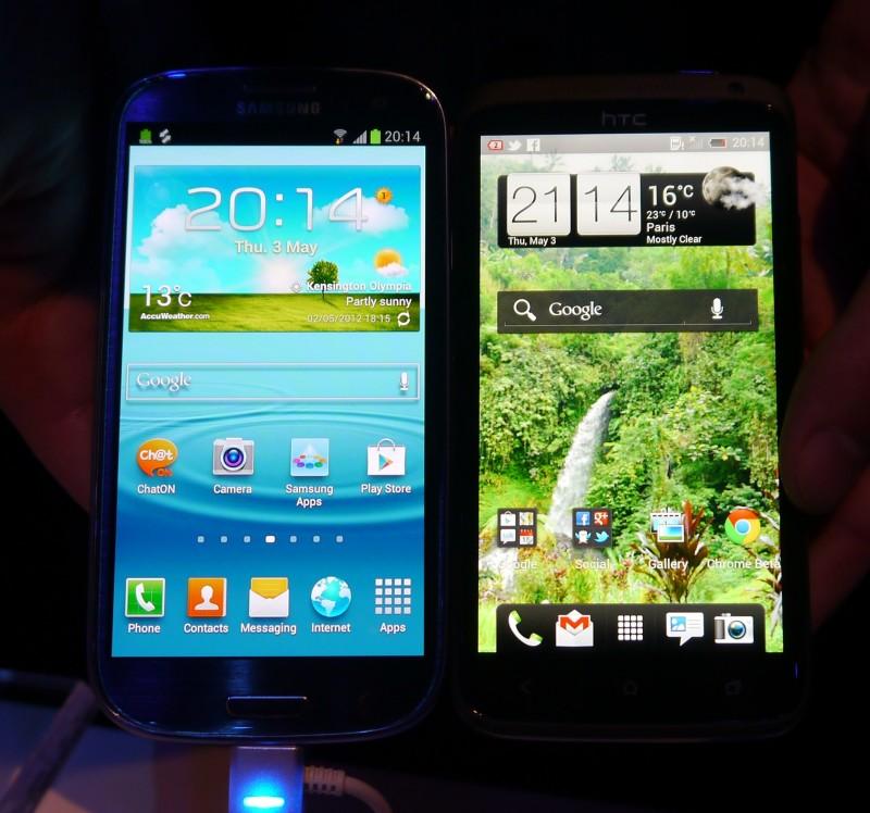 Samsung Galaxy S 3 vs HTC One X