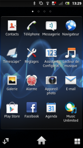Sony Xperia S screenshot