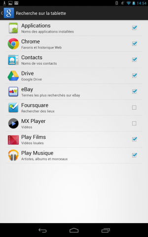 screenshot Android 4.1 Jelly Bean on Nexus 7