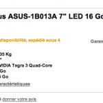 la Google Nexus 7 presque disponible en France !
