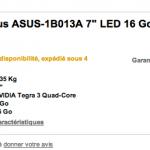 la Google Nexus 7 presque disponible en France !