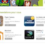 Google Play – Les recommandations personnalisés font leur apparition