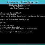 Ultimate Backup Tool – Une solution de sauvegarde de terminal sur PC