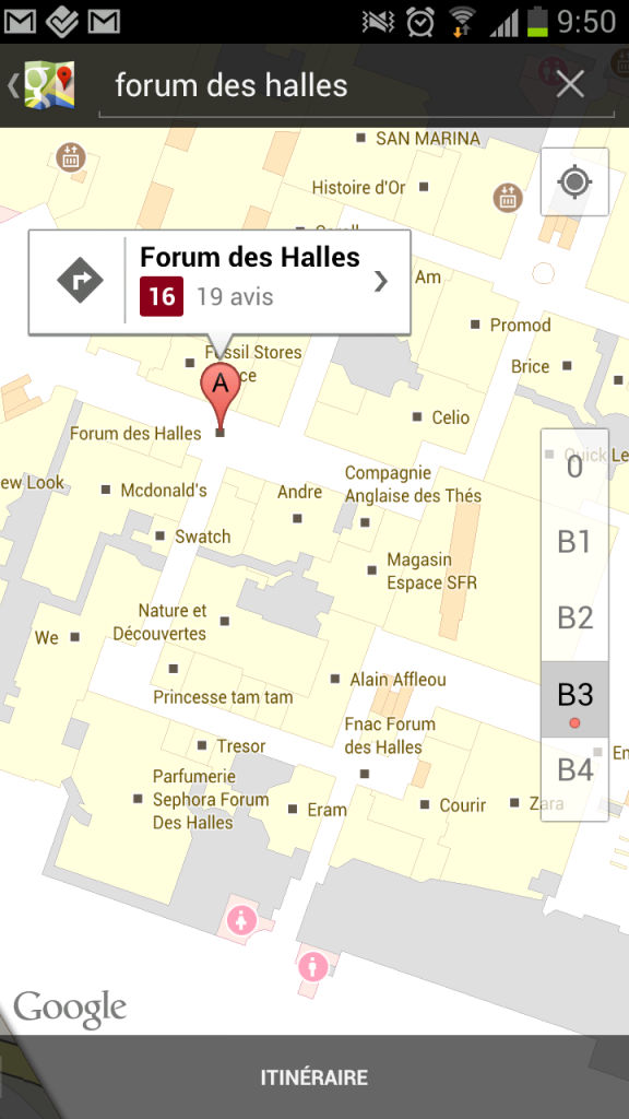 Google Indoor Maps France Paris
