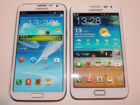 Galaxy Note 2 vs Galaxy Note