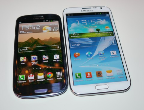 Galaxy Note 2 vs Galaxy S3
