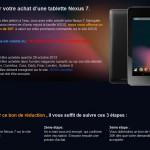 Asus Nexus 7 16Go – Vous l'avez acheté à 249€ ? Asus et Google vous rembourse la différence !