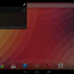 Android 4.2 Nexus 10 Notification bar