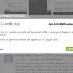 Google Play – Intégration des comptes Google+ pour les avis