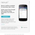 Nexus 4 – Si vous ne savez que faire à 17h et que vous résidez en Allemagne ou au Royaume-Uni