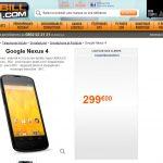 Nexus 4 – 299 € sur GrosBill ?