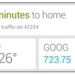 Google Now – Un widget en développement ?