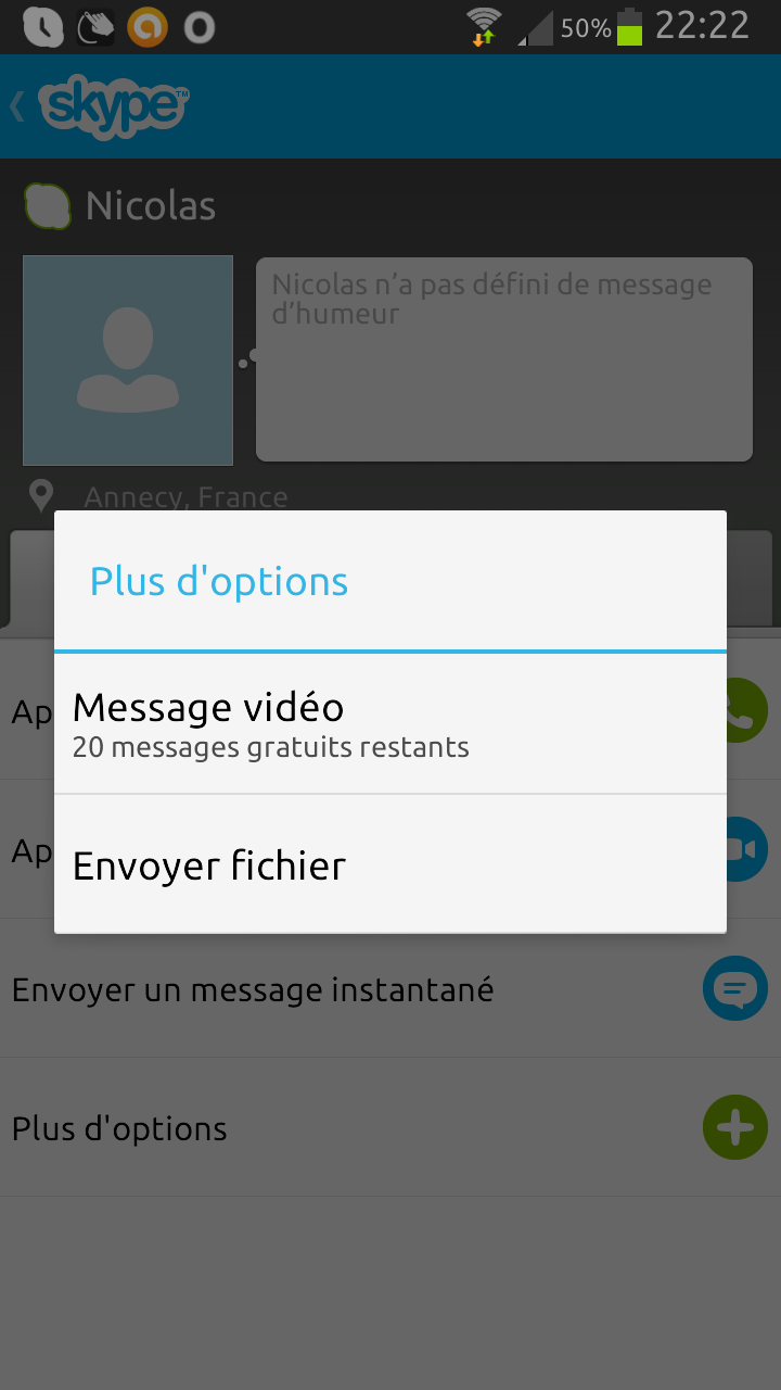 messagerie vidéo Skype - étape 1