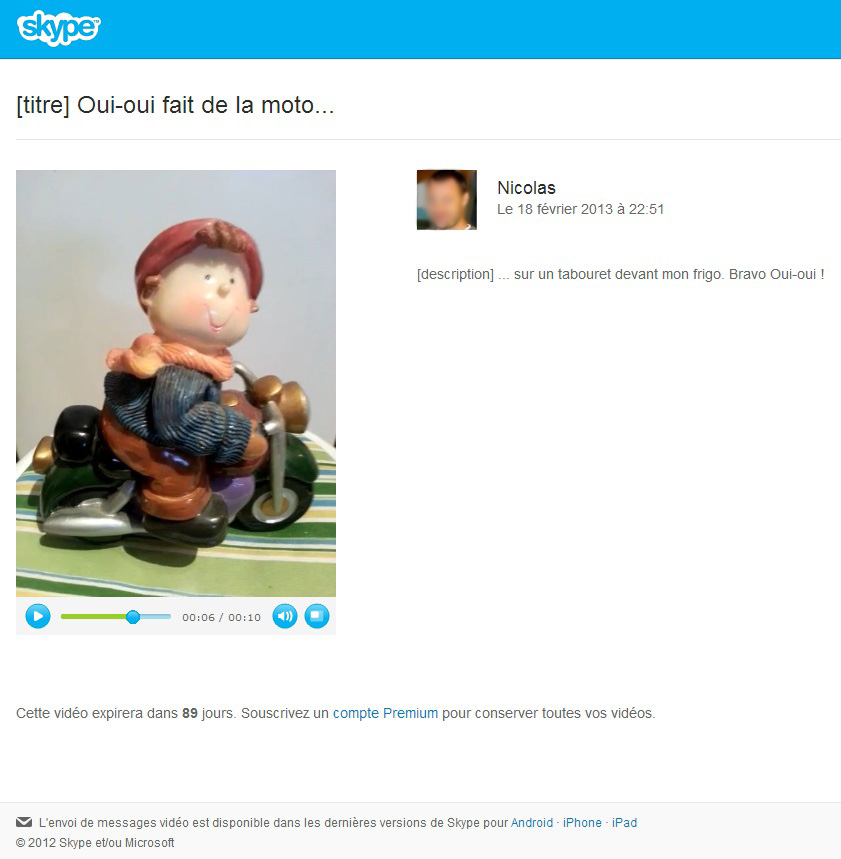 messagerie vidéo Skype - étape 4