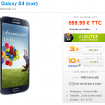 Samsung Galaxy S IV en pré-commande chez materiel.net à 699 euros