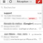 Gmail mobile – L'interface revisitée