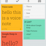 Google Keep officialisé et disponible