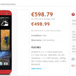 HTC One – Encore une apparition en robe rouge