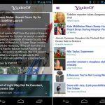 Le nouveau Yahoo! disponible sur le Play Store