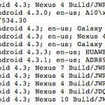 Plusieurs terminaux tournant sous Android 4.3 découverts, fake ?