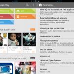 Play Store – Nouvelle version avec amélioration de l'interface graphique