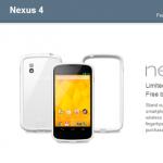 Le Nexus 4 blanc s'arrache aux États-Unis [MAJ: Google reprend les terminaux vendus !]