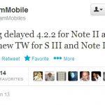 Samsung Galaxy S3 et Note 2 – La mise à jour vers Android 4.2.2 repoussée