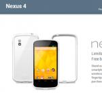 Les Nexus 4 blanc 16 Go est à nouveau disponible aux US [MAJ : Explications]
