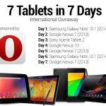 Une tablette à gagner par jour avec Android Authority