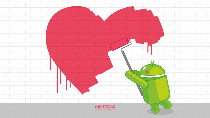 android-valentines-wall