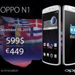 Oppo N1 – acheter le smartphone le 10 décembre à 449 euros