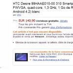 Le HTC Desire 310 en précommande chez Amazon Allemagne à 140 euros