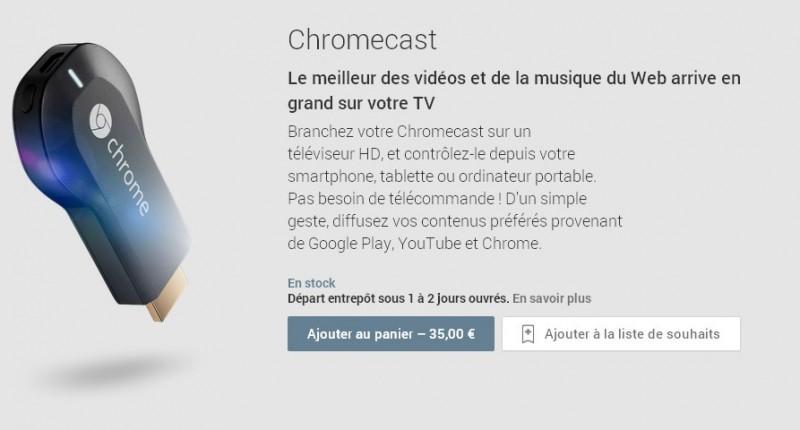 Chromecast   Appareils compatibles avec GooglePlay(1)
