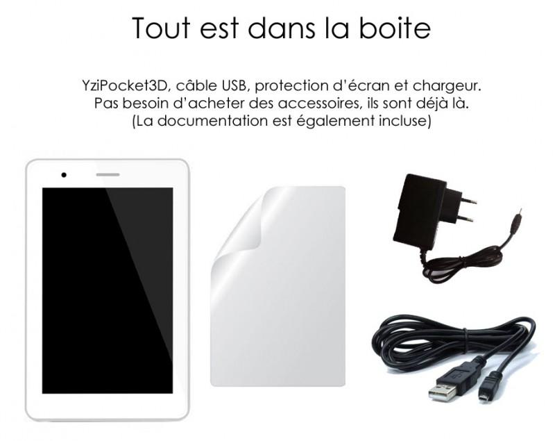 Découvrez YziPocket3D. La première tablette 7 pouces avec écran 3D sans lunettes.