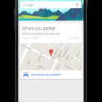 Google – Une application pour mémoriser où vous garez votre voiture en approche