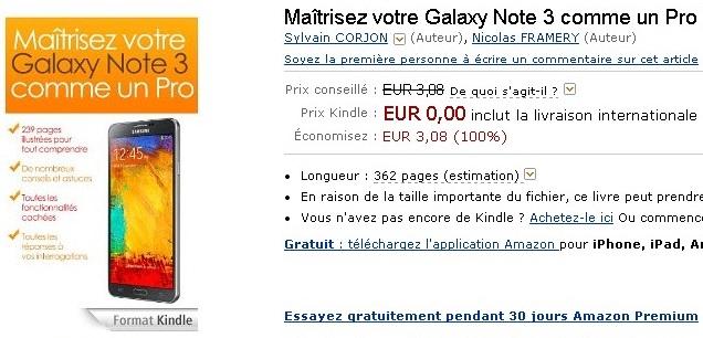 Maîtrisez votre Galaxy Note 3 comme un Pro eBook  Sylvain CORJON  Nicolas FRAMERY  Amazon.fr  Livres