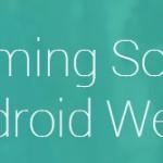 Android Wear – Une page officielle et un formulaire