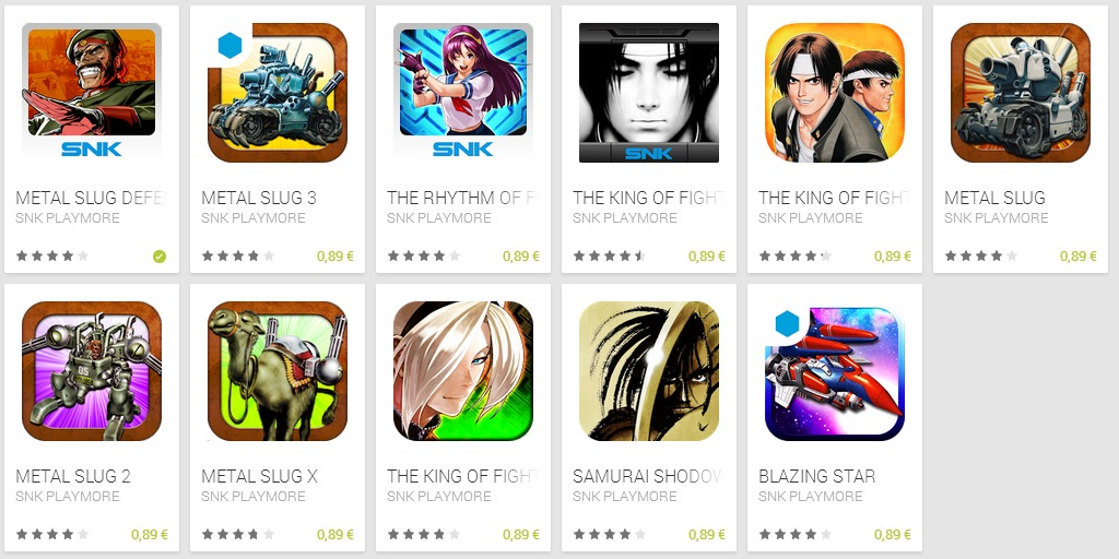 SNK PLAYMORE   Applications Android sur Google Play