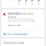 Google Now – Nouvelle mise à jour avec proposition du meilleur prix pour votre billet d'avion